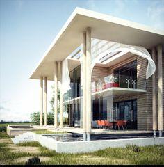 Современная архитектура для дома, Эскизный проект больницы, Офисное здание