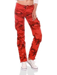 Match Womens Classic Straight Leg Multi Pocket Cargo Pants #2036