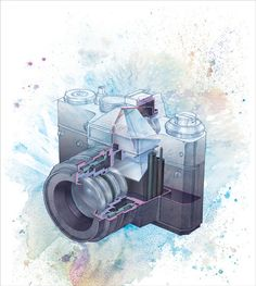 Technical and Scientific Illustration by Palina Klimava, via Behance