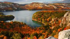 Killarney Provincial Park, Ontario, Canada (© Jeffery D. Walters/Getty Images) Daily Pictures, Colorful Pictures, Bing Backgrounds, Lake Photography, Fall Wallpaper, Perfect Place, Ontario, Scenery, Exterior