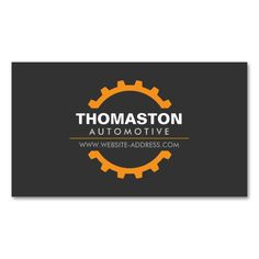 Orange Automotive Gear Auto Repair, Mechanic Double-Sided Standard Business Cards (Pack Of 100). Make your own business card with this great design. All you need is to add your info to this template. Click the image to try it out!