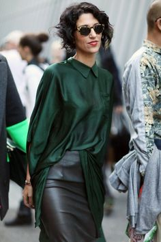 Beautiful Blouse.  Yes, forrest green