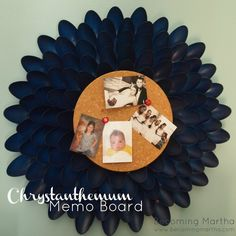 Becoming Martha: Chrysanthemum Memo Board {Made of Spoons!}