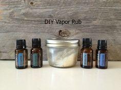 DIY Vapor Rub ~ Using beeswax, coconut oil, Eucalyptus, Breathe, Peppermint & Wintergreen essential oils.