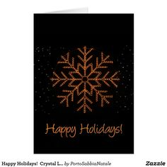Happy Holidays!  Crystal Lights Card #portosabbianatale #christmas #christmascards