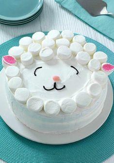 tartas faciles con marshmellow, tartas para cumpleaños, blanco crem #tartas faciles con marshmellow, tartas para cumpleaños, blanco crema
