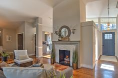 Biltmore Forest Project - #LarissaChaneyInteriors #LuxinProperties #decor #renovation Benjamin Moore Tranquility, Houses Houses, Home Staging, Hallways, Living Rooms, Interiors, Projects, Ideas, Design