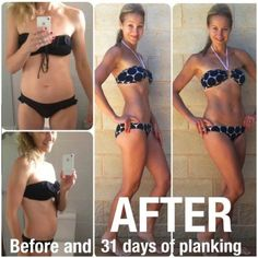 30 Day Plank Challenge - Benefits / Before And After Results Fitness Diet, Fitness Motivation, Health Fitness, Body Inspiration, Fitness Inspiration, Workout Inspiration, 30 Day Plank Challenge, Challenge Accepted, Get Skinny
