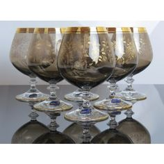 Another nice set... Bohemia Crystal Brandy - Whisky - Beer Snifter Glass