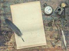 Letter paper vintage writing tools by LiliGraphie on Creative Market