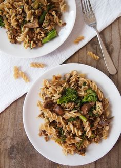 vegan take on a classic Italian pasta combination. Whole grain ...