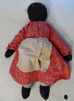 Available from Orphaned Treasures ~ Vintage Estate Black Americana Mammy Doll Button Eyes Wire Earrings Handmade