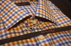 SAND gingham dress shirt from Gotstyle Menswear: $195.