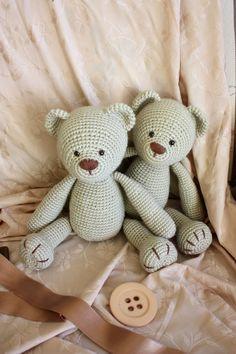 Teddy Bears :) PATTERN: https://www.etsy.com/shop/TinyAmigurumi