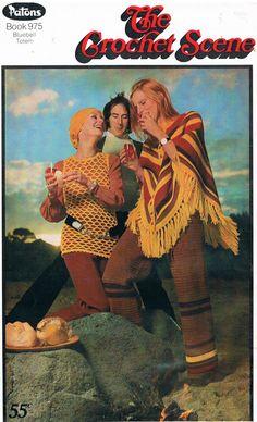 1970's Crochet Scene Women's Fashion Designs by by SparrowFinds