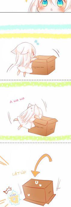 In The Box, Rodiura Kurashi Loli Kawaii, Kawaii Chibi, Cute Chibi, Kawaii Girl, Kawaii Anime, Chica Gato Neko Anime, Anime Neko, Anime Manga, Manga Dragon