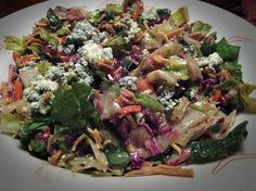 Copycat Outback Blue Cheese Chopped Salad. I made this yesterday and it's YUMMY!