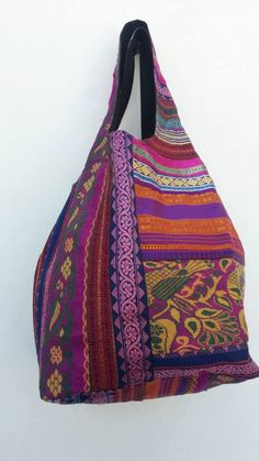 ce0c299c0225 Tote Bag recycled sari braid bag by TastyOldChooksClothz on Etsy