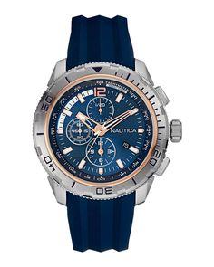 Ρολόι Nautica NST 101 Chronograph NAI19505G Blue Band 8628f12f43e