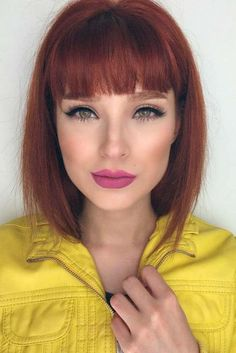 Modern Ways to Style a Bob with Bangs ★ See more: http://lovehairstyles.com/style-bob-with-bangs/