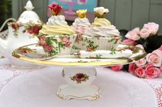 Vintage Royal Albert Cake Stand Comport by cake-stand-heaven