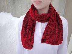 Shimmery Red Scarf Valentines Day Velvet Feel Plush by Girlpower, $54.00