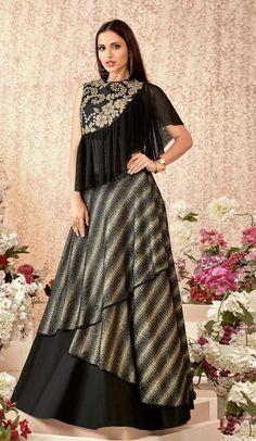 Lehenga Online : Buy Indian Lehenga Choli Online with Discount Black Lehenga, Indian Lehenga, Silk Lehenga, Silk Dupatta, Choli Designs, Blouse Designs, Saris, Lehenga Choli Online, Ghagra Choli