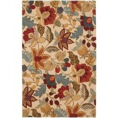 @Overstock - Delight the flower lover in your family with this multicolored handmade wool rug. Place the rug under a potted plant to add vibrancy to the corner of any room. Muted colors will blend in with warm-hued rooms and complement a hardwood floor.http://www.overstock.com/Home-Garden/Handmade-Jardine-Foilage-Ivory-Wool-Rug-5-x-8/6318930/product.html?CID=214117 $199.99
