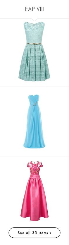 """EAP VIII"" by cynthiatorres-ii ❤ liked on Polyvore featuring dresses, embelished dress, green dress, holiday dresses, green metallic dress, green holiday dress, blue, blue chiffon dress, long chiffon dress and long bridesmaid dresses"