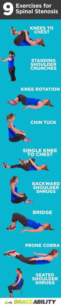 Treating spinal stenosis doesn't always mean surgery! With these  easy at home exercises your blood flow will be increased to your back as well as strengthen  the muscles around your spine at the same time! There are a few different workouts to target the different parts of the lumbar and cervical vertebra. Check them out here!