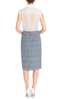 Tweed Pencil Skirt by Thom Browne Now Available on Moda Operandi