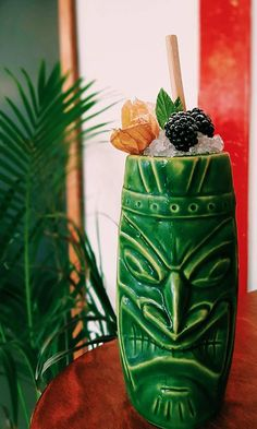 Another awesome Tiki piece of art by #EuropeanBartenderSchool. Experiment with flavors and desing and your cocktails will stand out from the crowd like ours!