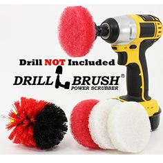 Battery Powered Bathroom Scouring Pads And Electric Scrub Brush Drillbrush  Http://www.