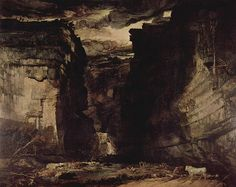 """""""Gordale Scar"""" by James Ward. 1811-15. Oil on Canvas.  approx. 11 x 14 ft. Gordale Scar is in Yorkshire."""