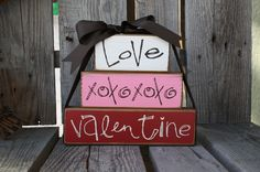 valentines day  Looks easy, could use boxes instead of blocks for 4 different holidays and just change ribbon?