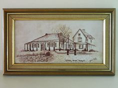 Beautiful Painting on Tile, Entally House, Hadspen, Tasmania - signed 1984