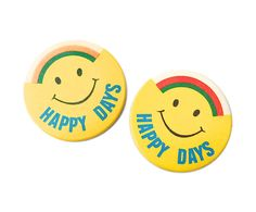 1970s Smiley Badges