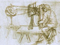 Spectograph, ca.1480, charcoal drawing by Leonardo da Vinci