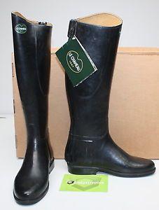 Womens Le Chameau Alezan Prestige Equestrian rain rubber Riding PullON Boot 41 8