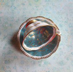 Vintage Bone China Teacup & Saucer Royal Albert by MiladyLinden