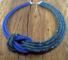 Fabric necklace Aboriginal print fabric Cotton by LivieRoseDesign