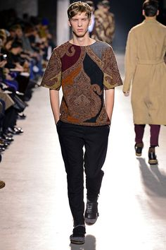 Dries Van Noten FW13 The quilting on the shirt tho.