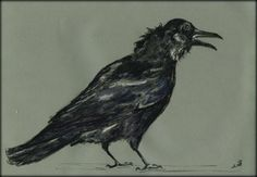 Crow Corvus Bird Death Black Original ART Watercolor Painting BY Juan Bosco | eBay
