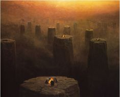 Looks like a realistic representation of the #Nether from #Minecraft! Zdzisław Beksiński art.