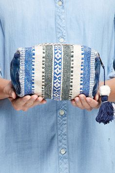 Catching Waves Embellished Bag by Love Stitch