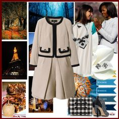 """""""Blue belles of the ball Samantha Cameron and Michelle Obama"""" by lizart ❤ liked on Polyvore"""