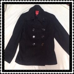 Black Peacoat  (Take 25% off) Black Wool peacoat by Esprit. Mint condition. ESPRIT Jackets & Coats