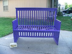 bench made from baby bed | Bench made out of a baby crib