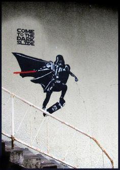 By Banksy. More by Banksy on Street Art Utopia. Street Art Utopia, Street Art Graffiti, Graffiti Artwork, Graffiti Images, Graffiti Artists, Street Artists, Banksy, Darth Vader, Photo D Art