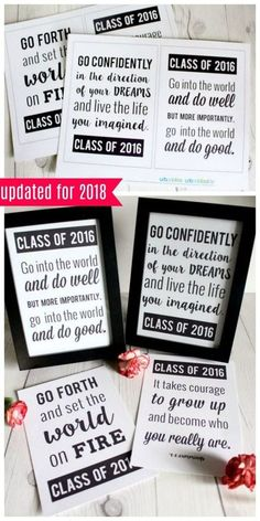Graduation Quotes Free Printable – Back to School Crafts – Grandcrafter – DIY Christmas Ideas ♥ Homes Decoration Ideas High School Graduation Quotes, 5th Grade Graduation, College Graduation Parties, Graduation Celebration, Graduation Decorations, Graduation Party Decor, Graduation Cards, Graduation Speech, College Graduation Quotes